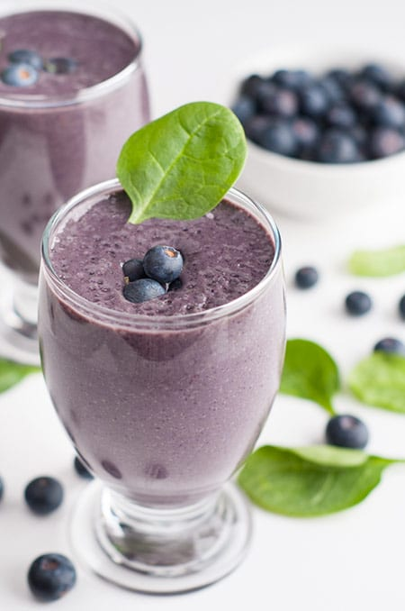 Blueberry and Spinach Smoothie