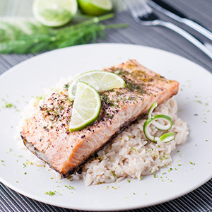Lime and Dill Baked Salmon