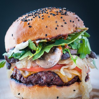 Epic Beef Burger with a Homemade Brioche Bun