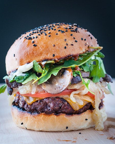 Epic Beef Burger with a Homemade Brioche Bun