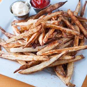 Baked French Fries and Spices