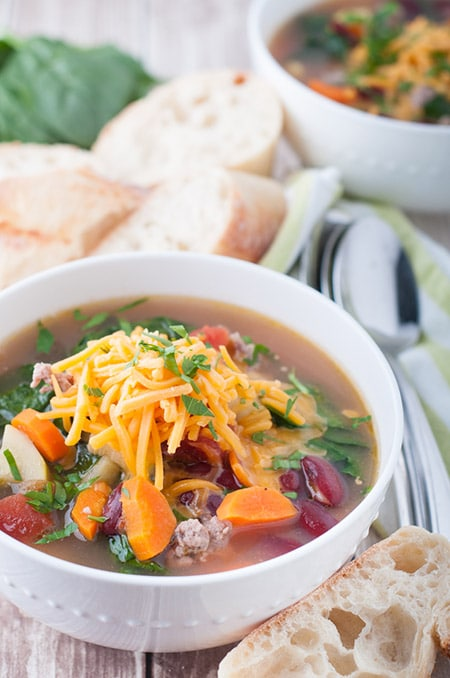 Italian sausage and spinach soup