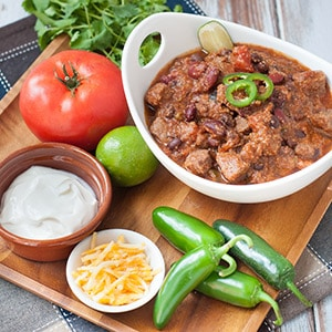 Pressure Cooker Beef Chili Recipe