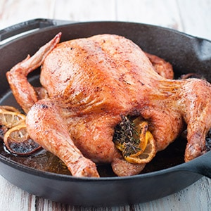 Citrus and Herb Pan Roasted Chicken