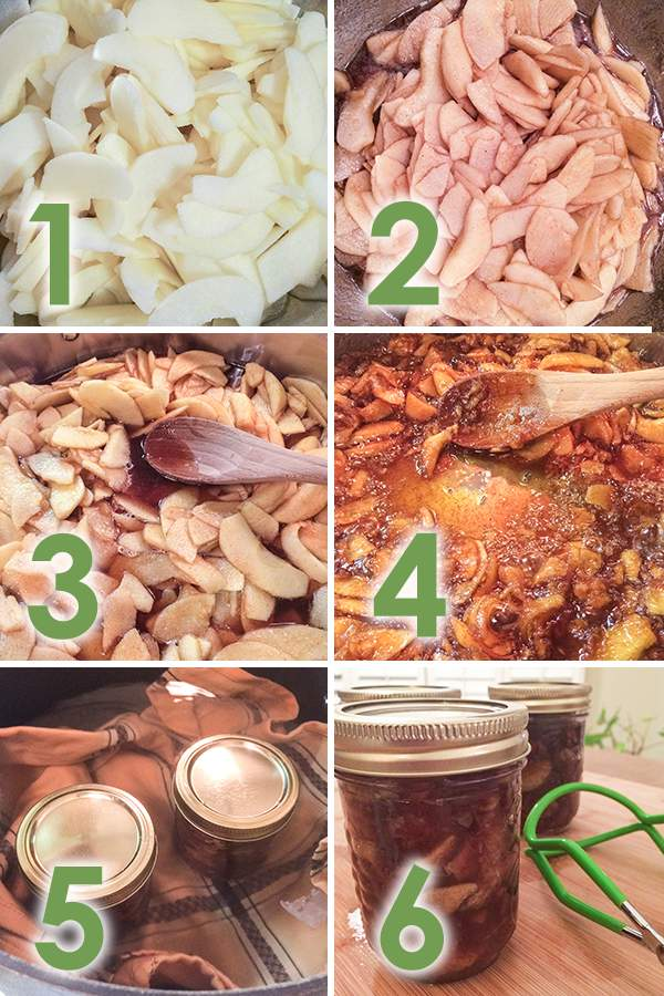 Easy Apple Pie Jam making process