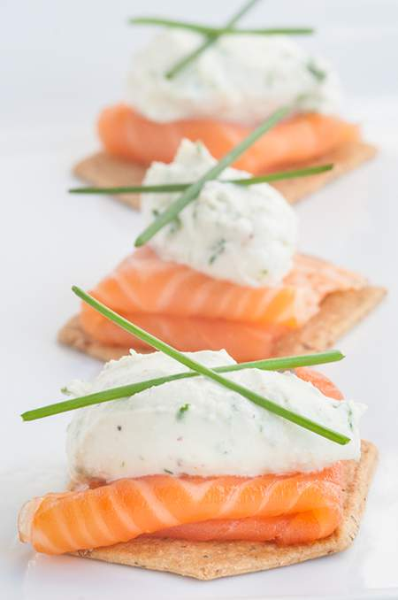 Smoked Salmon & Goat Cheese Recipe — Dishmaps