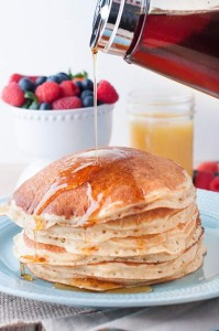 Perfect Buttermilk Pancakes (as fast as boxed mix)