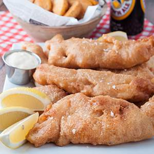 Beer-Battered Haddock