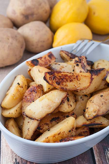 Greek Style Roasted Lemon Potatoes