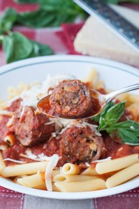 Veal Braciole (thinly sliced and rolled veal) Slow Cooked in Tomato Sauce