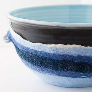 UncommonGoods - Classic Blue Serving Bowl