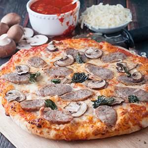 BBQ Italian Sausage & Mushroom Pizza
