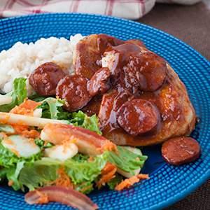 Weeknight Pork Chops with White Wine Sauce