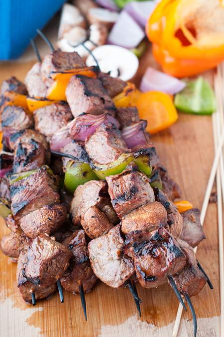 Striploin Steak Shish Kabobs