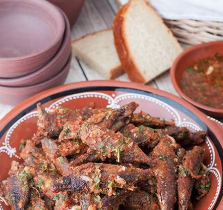 Azores Chicharros with Sauce (Blue Horse Mackerel or Stickleback)
