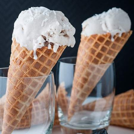 Blender Coconut Ice Cream