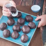 Dark Chocolate, Pecan & Cream Cheese Balls