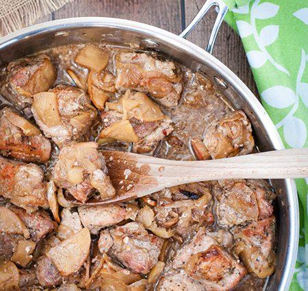 Roast Pork Sirloin with Apples