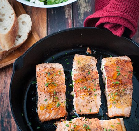 Seared Honey and Orange Glazed Salmon