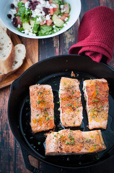 Honey and Orange Glazed Salmon