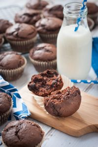 Chocolate Muffins with Chocolate Chips