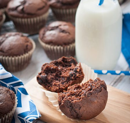 Easy Chocolate Muffins with Chocolate Chips