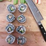 Cut California rolls