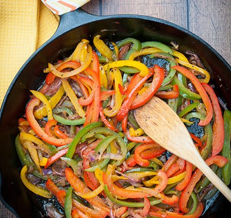 Cast Iron Caramelized Onions and Peppers Recipe