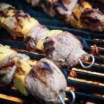 Marinated Pork Tenderloin and Pineapple Kabobs