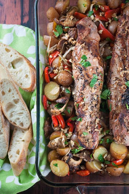 Roasted Pork Tenderloin and Potatoes