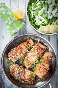 Marinated Pan Seared Salmon Fillets